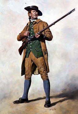 Minute Man posing with gun